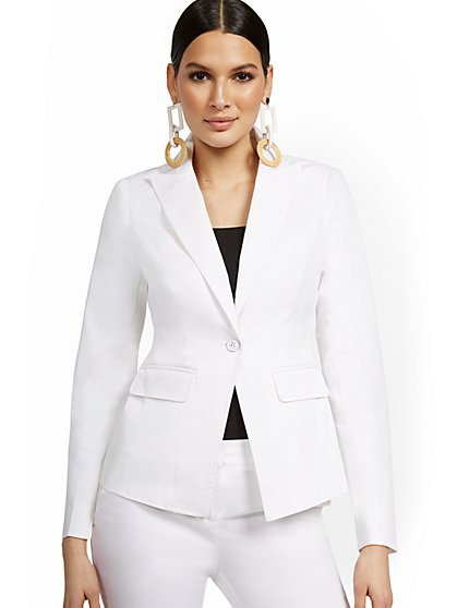 Petite One-Button Blazer - New York & Company