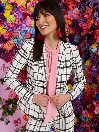 Petite One-Button Jacket - Modern - All-Season Stretch - 7th Avenue - New York & Company