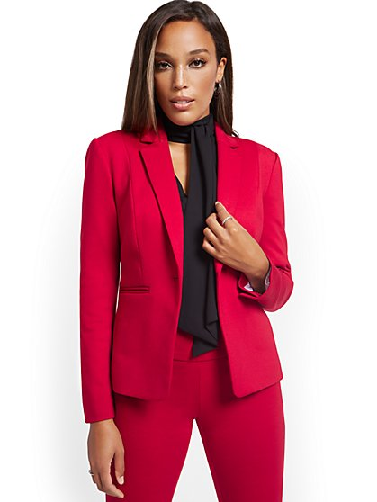Petite One-Button Jacket - Superflex - New York & Company
