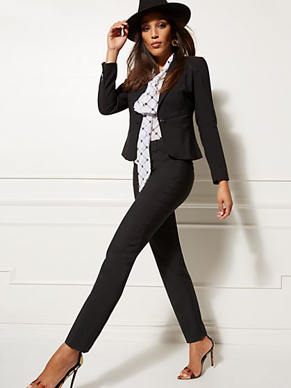 65b3f9f2f58c Petite One-Button Waist-Inset Jacket - All-Season Stretch - 7th Avenue