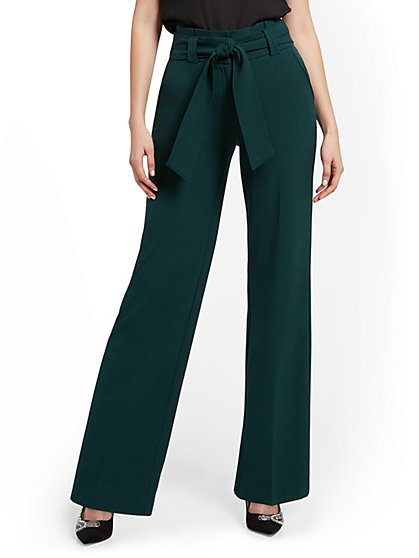 Petite Paperbag-Waist Wide-Leg Pant - 7th Avenue - New York & Company