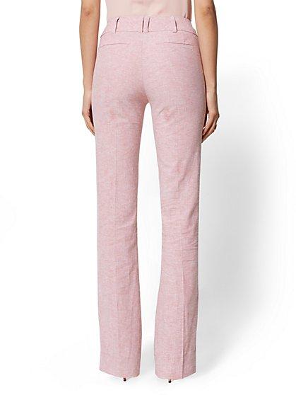 d751d978f6a42 ... Petite Pink Bootcut Pant - Modern - City Stretch Linen Flex - 7th  Avenue - New