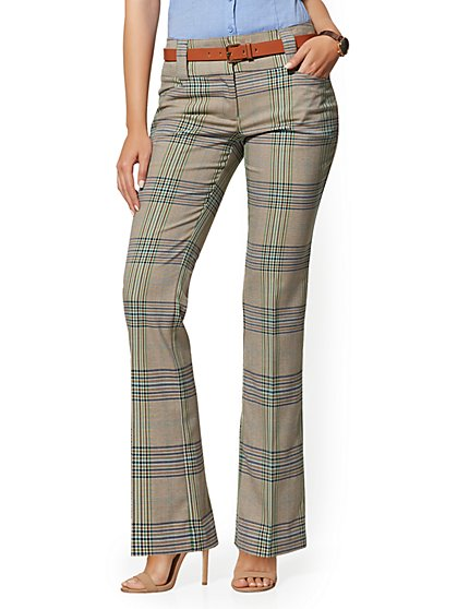 Petite Plaid Barely Bootcut Pant - Modern - 7th Avenue - New York & Company