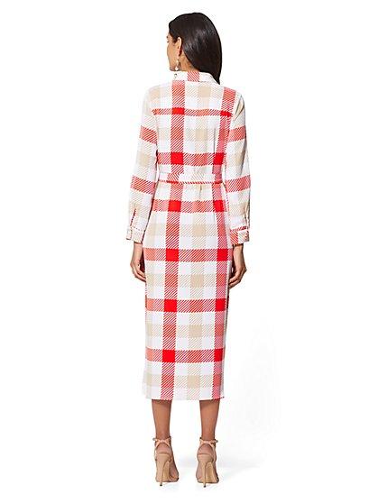 fb00151d40 ... Petite Plaid Belted Shirtdress - New York   Company ...
