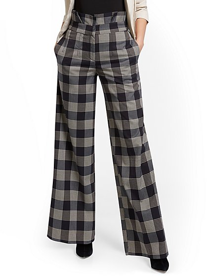 Petite Plaid Paperbag-Waist Pant - New York & Company
