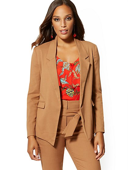Petite Soft Madie Blazer - Caramel - 7th Avenue - New York & Company