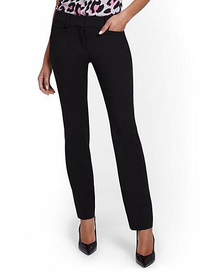 Petite Straight-Leg Pant - All-Season Stretch - 7th Avenue - New York & Company