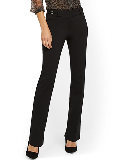Petite Straight-Leg Pant - Modern - All-Season Stretch - 7th Avenue - New York & Company