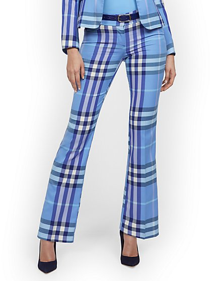 Petite Straight-Leg Pant - Modern - Plaid - 7th Avenue - New York & Company