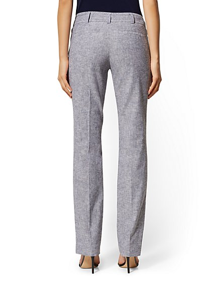 fad74c47e ... Petite Straight-Leg Pant - SIgnature Fit - City Stretch Linen Flex - 7th  Avenue