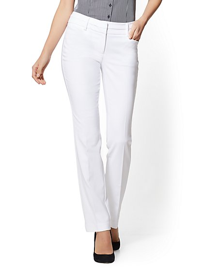 Petite Straight-Leg Pant - Signature - All-Season Stretch - 7th Avenue - New York & Company