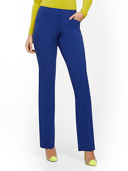 Petite Straight-Leg Pant - Signature - Double Stretch - 7th Avenue - New York & Company