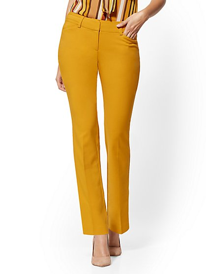 Petite Straight-Leg Pant - Signature Fit - All-Season Stretch - 7th Avenue - New York & Company