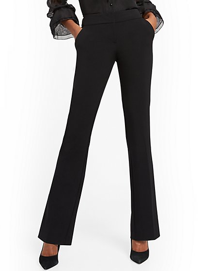 Petite Straight-Leg Pant - Signature Fit - Double Stretch - 7th Avenue - New York & Company