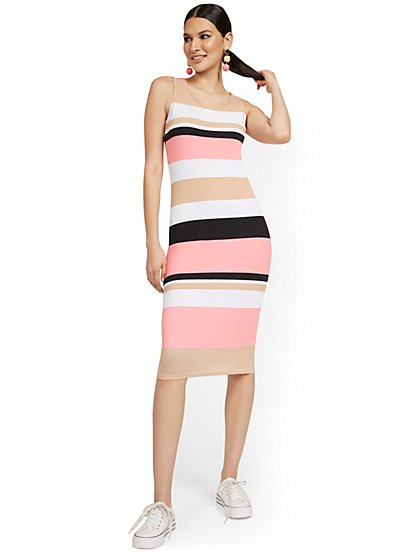 Petite Striped Tank Midi Dress - Everyday Collection - New York & Company