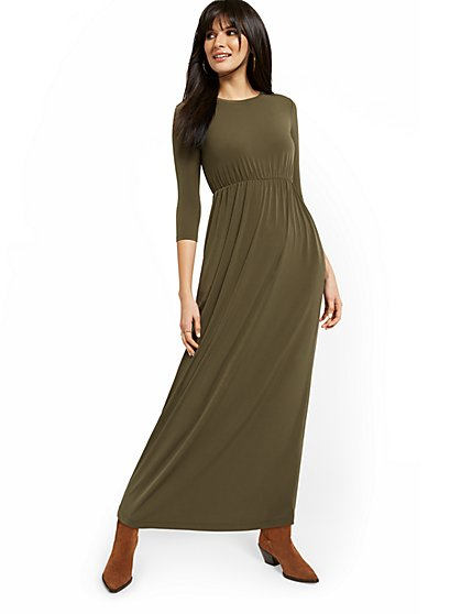 Petite T-Shirt Maxi Dress - New York & Company