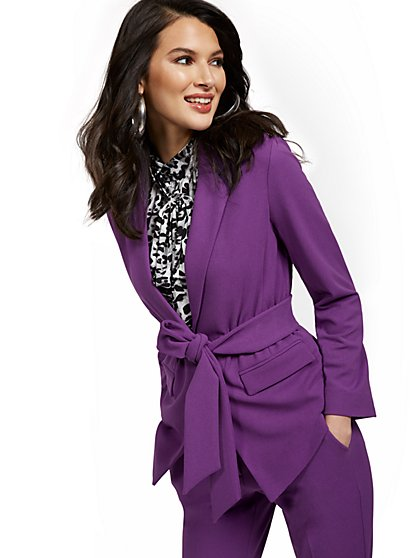 Petite Tie-Front Jacket - New York & Company