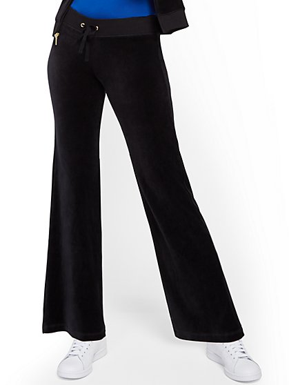 Petite Velour Straight-Leg Pant - New York & Company