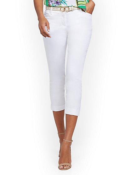 Petite White Capri Pant - 7th Avenue - New York & Company
