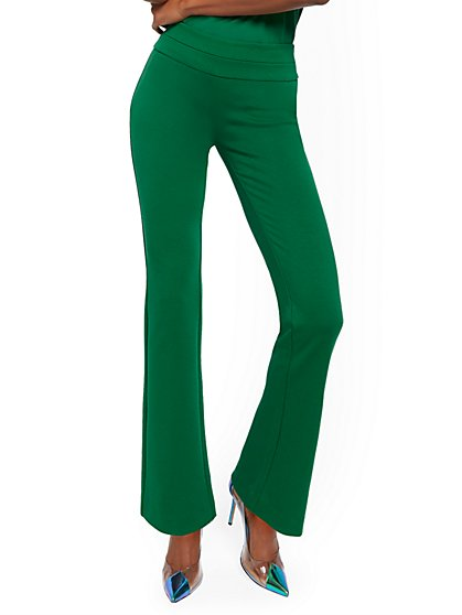 Petite Whitney High-Waisted Pull-On Bootcut Pant - Ponte - 7th Avenue - New York & Company