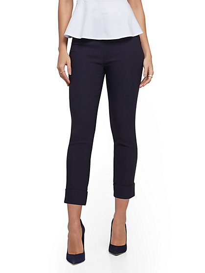 Petite Whitney High-Waisted Pull-On Capri Pant - New York & Company