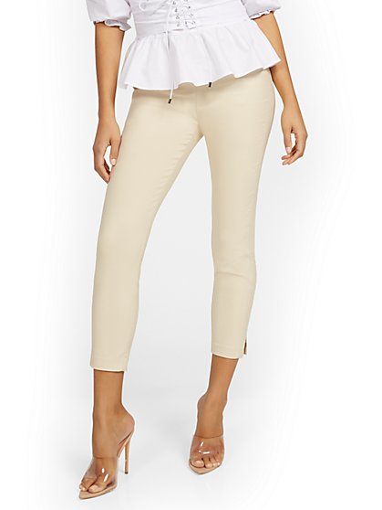 Petite Whitney High-Waisted Pull-On Slim-Leg Ankle Pant - New York & Company
