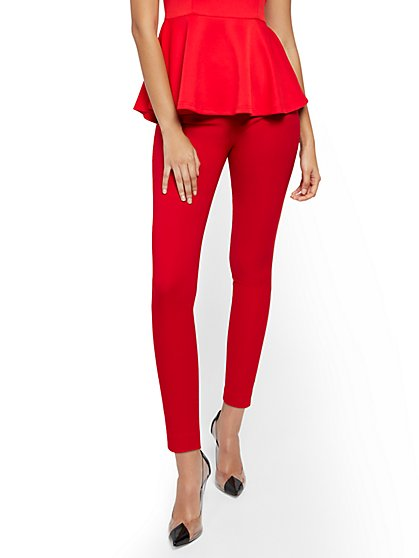 Petite Whitney High-Waisted Pull-On Slim-Leg Pant - 7th Avenue - New York & Company