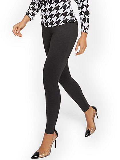 Petite Whitney High-Waisted Pull-On Slim-Leg Pant - Ponte - 7th Avenue - New York & Company