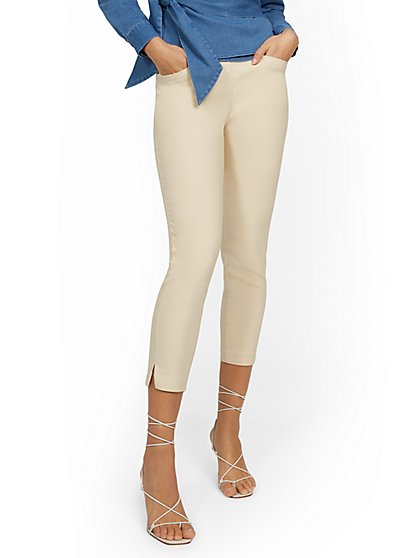 Petite Whitney High-Waisted Tummy Control Pull-On Slim-Leg Capri Pant - New York & Company