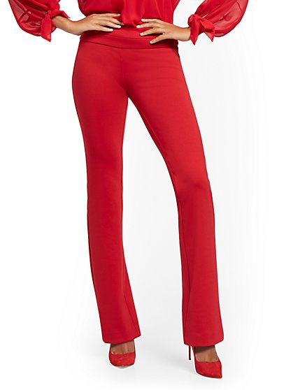 Petite Whitney Pull-On Bootcut Pant - Ponte - 7th Avenue - New York & Company