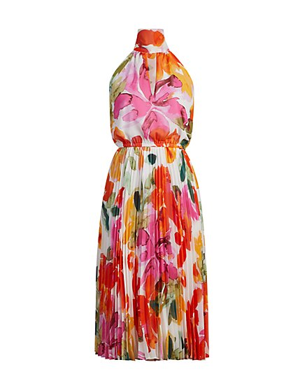 Petula Pleated Halter Dress - Eva Mendes Fiesta Collection - New York & Company