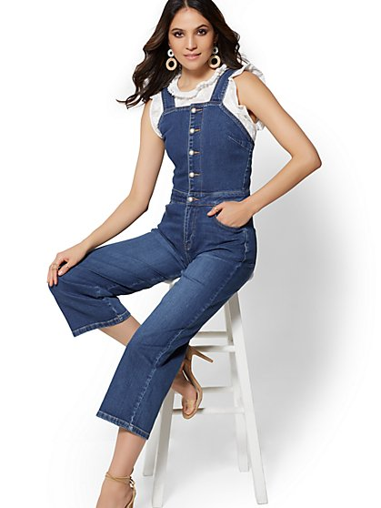 Pinafore Jumpsuit - Blue Myth - Soho Jeans - New York & Company