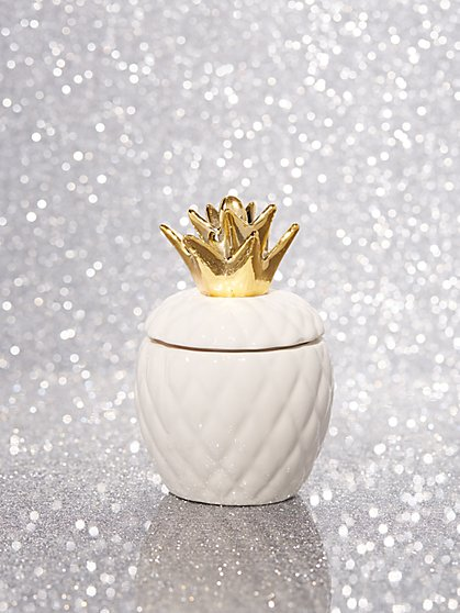 Pineapple Ceramic Candle - New York & Company
