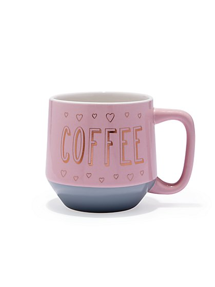 "Pink Ceramic ""Coffee"" Mug - New York & Company"