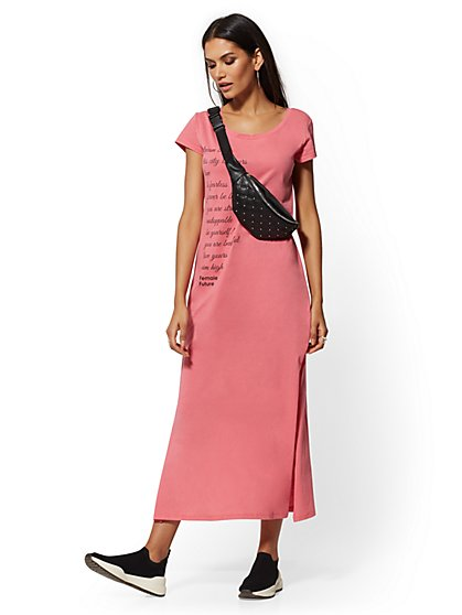 "Pink ""Dream Big"" Maxi Tee - Soho Street - New York & Company"