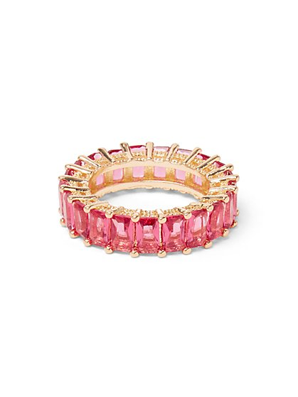 Pink Faux-Stone Ring - New York & Company