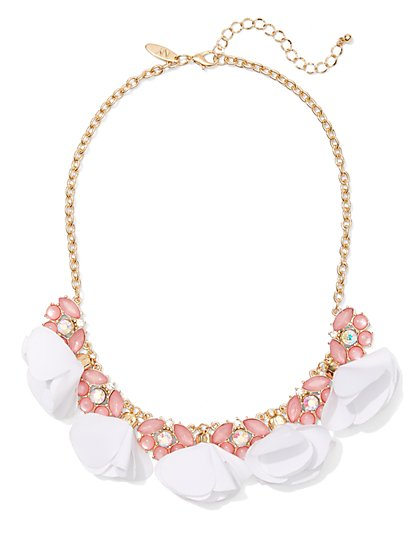 Pink Faux-Stone Statement Necklace - New York & Company