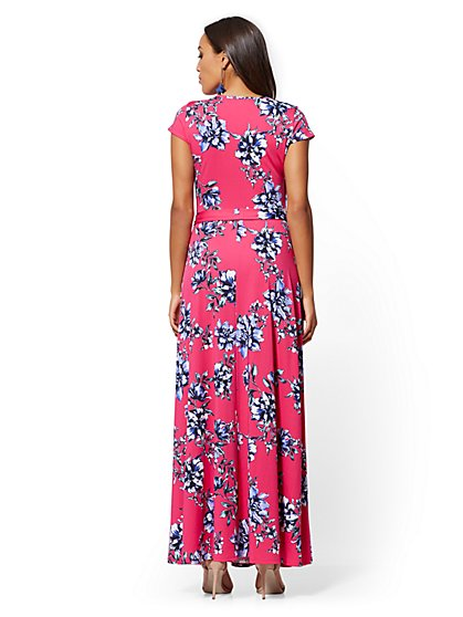 d0508bf7d2fef ... Pink Floral Wrap Maxi Dress - New York   Company ...