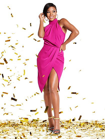 Pink Halter Sheath Dress - Gabrielle Union Collection - New York & Company