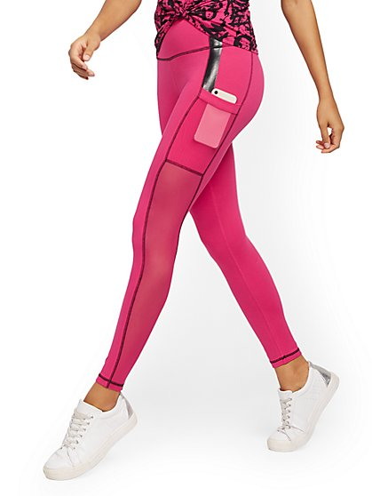 Pink High-Waisted Pocket Legging - New York & Company