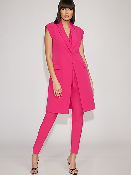 Pink Long Vest - Gabrielle Union Collection - New York & Company
