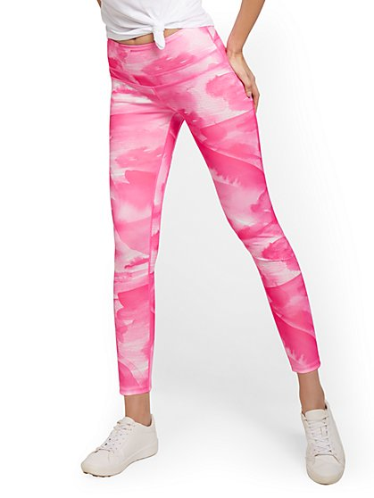 Pink Painterly Tie-Dye Legging - New York & Company