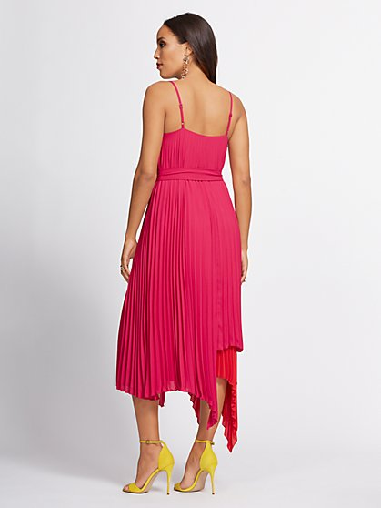 64a215c4eea ... Pink Pleated Shift Dress - Gabrielle Union Collection - New York    Company