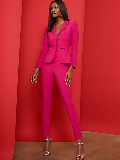 Pink Slim Ankle Pant - 7th Avenue - New York & Company