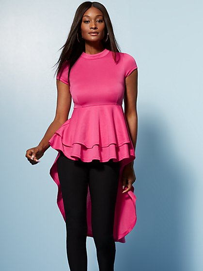 Pink Tiered Hi-Lo Top - New York & Company