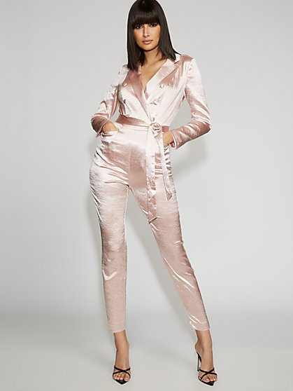 Pink Tuxedo Jumpsuit - Gabrielle Union Collection - New York & Company