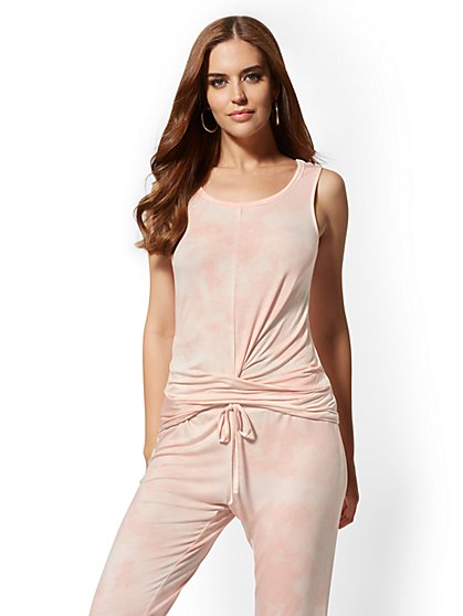 Pink Twist-Front Tank Top – Soho Street - New York & Company