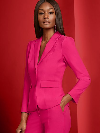 Pink Two-Button Jacket - 7th Avenue - New York & Company