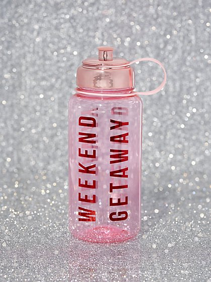 "Pink ""Weekend Getaway"" Water Bottle - New York & Company"