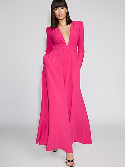Pink Wide-Leg Jumpsuit - Gabrielle Union Collection - New York & Company